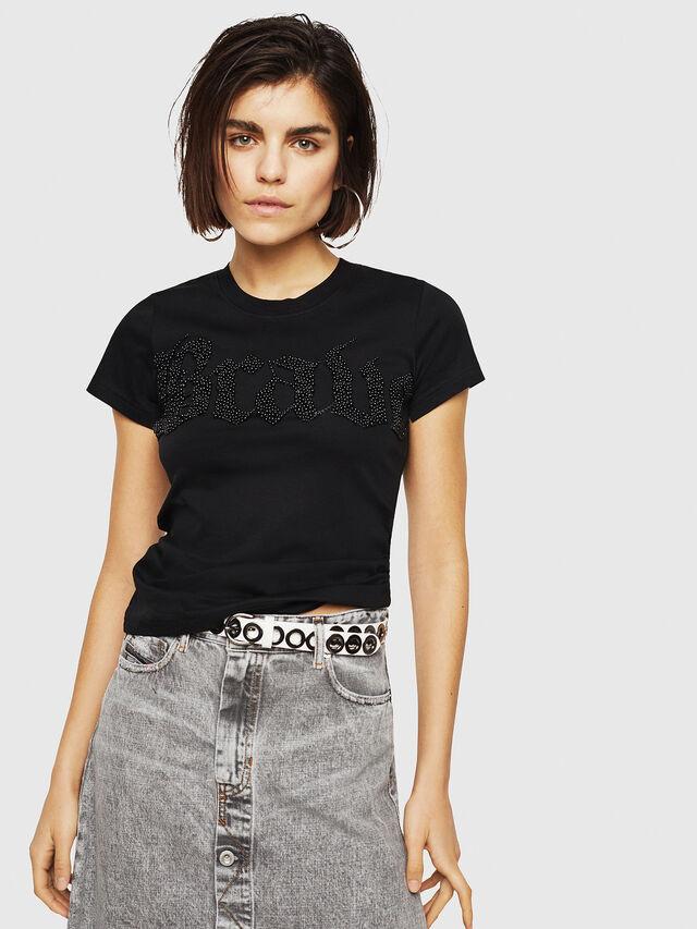 Diesel - T-SUPERY-B, Black - T-Shirts - Image 1