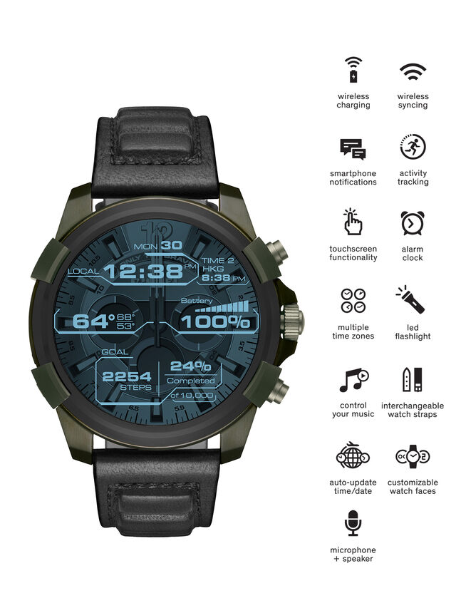 Diesel DT2003, Military Green - Smartwatches - Image 1