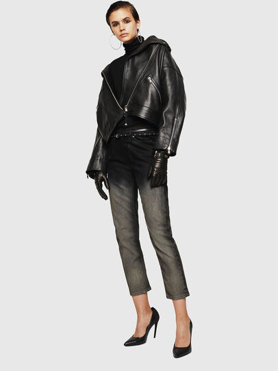 Diesel - LJESIV, Black - Leather jackets - Image 6