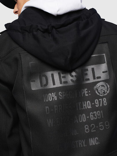 Diesel - J-JESSY-HOOD, Black - Jackets - Image 3
