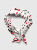 S-BANDY, White/Red - Scarf
