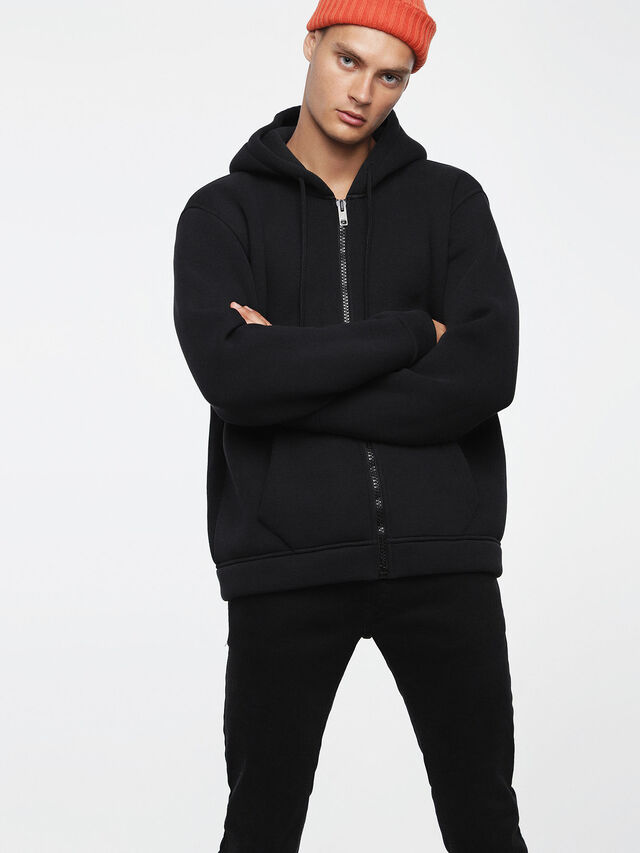 Diesel - S-GORDON-ZIP, Opaque Black - Sweaters - Image 1