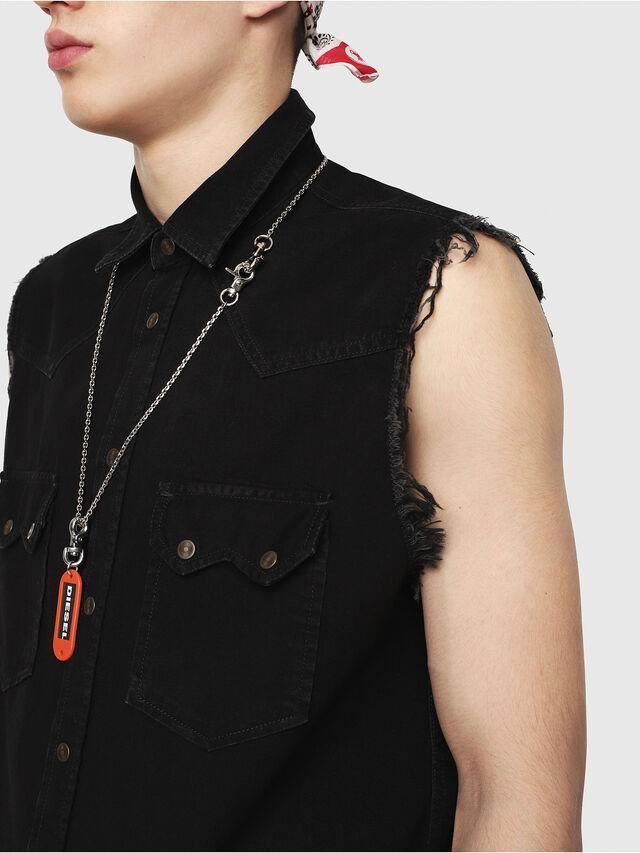 Diesel - D-KIRU, Black - Denim Shirts - Image 3