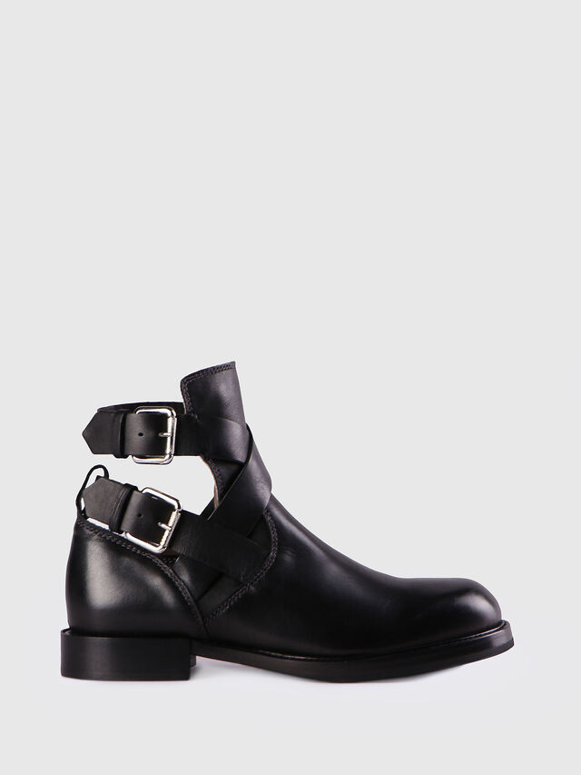 Diesel D-KOMB BOOT FOB, Black Leather - Ankle Boots - Image 1