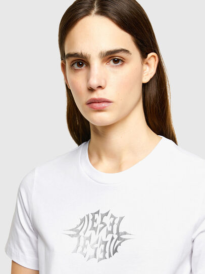 Diesel - T-SILY-K9, White - T-Shirts - Image 3