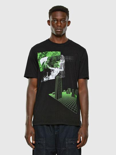 Diesel - T-JUBIND-SLITS, Black - T-Shirts - Image 4