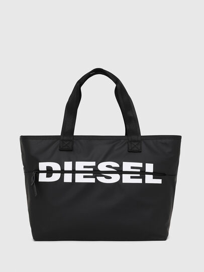 Diesel - F-BOLD SHOPPER II, Black - Shopping and Shoulder Bags - Image 1