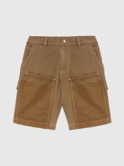 Diesel - PTRENTSHORT, Brown - Shorts - Image 1