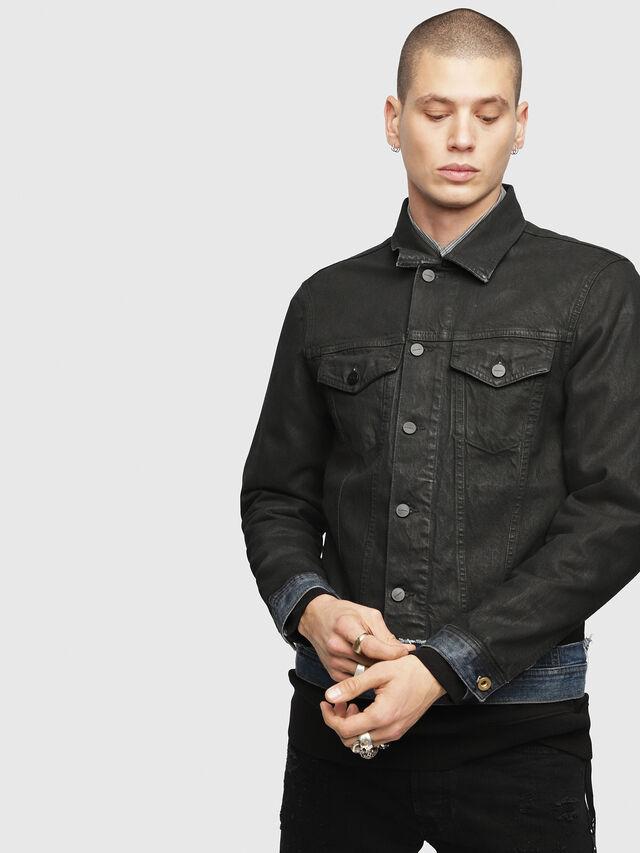 Diesel - D-CADY, Black/Blue - Denim Jackets - Image 1