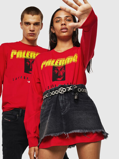 Diesel - LCP-T-JUST-LS-PALERM, Red - T-Shirts - Image 6