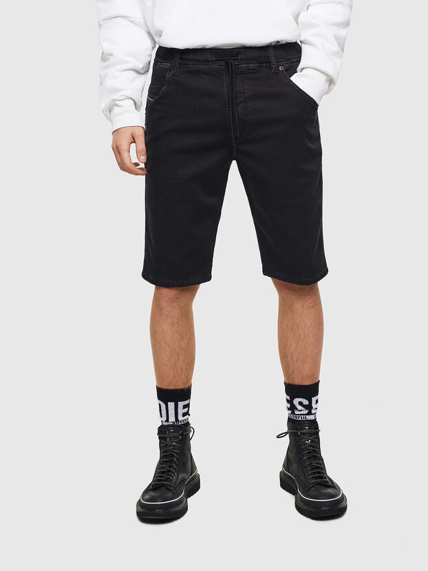 D-KROOSHORT JOGGJEANS, Black/Dark grey - Shorts