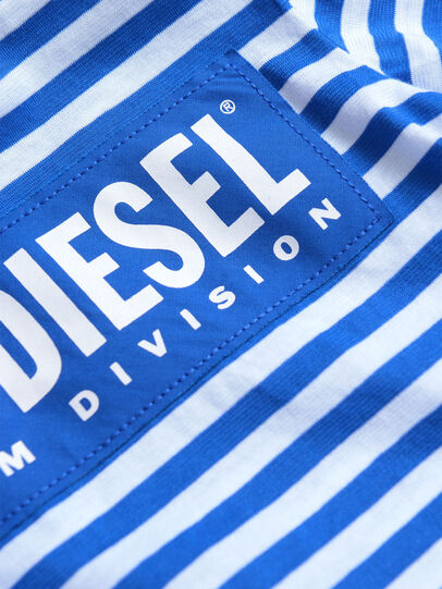 Diesel - TVIKB, Blue/White - T-shirts and Tops - Image 3