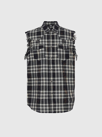 Diesel - NHILL-C, Black - Denim Jackets - Image 4