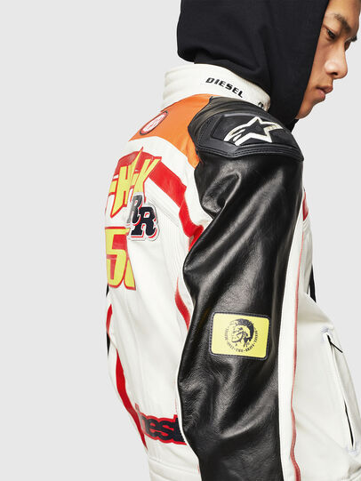 Diesel - ASTARS-LPATCH-1A, White - Leather jackets - Image 7