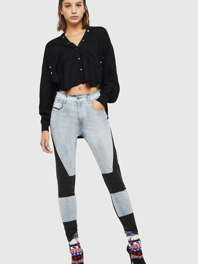 Diesel - Slandy High 0890M, Light Blue - Jeans - Image 6