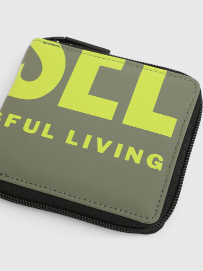 Diesel - ZIPPY HIRESH S II, Olive Green - Small Wallets - Image 4