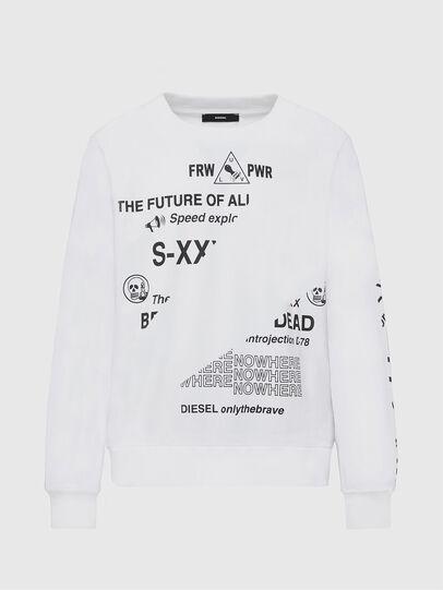 Diesel - S-GIRK-FOLDED, White - Sweaters - Image 1