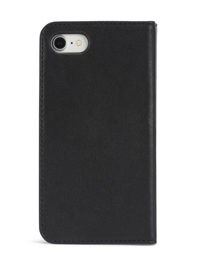 BLACK DENIM/STUD/ZIPPER IPHONE 8/7 FOLIO, Black