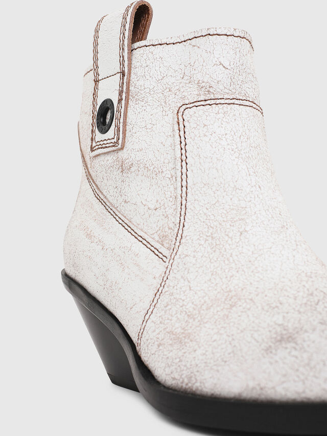 D-GIUDECCA MAB Women: Low cowboy boots in aged leather | Diesel