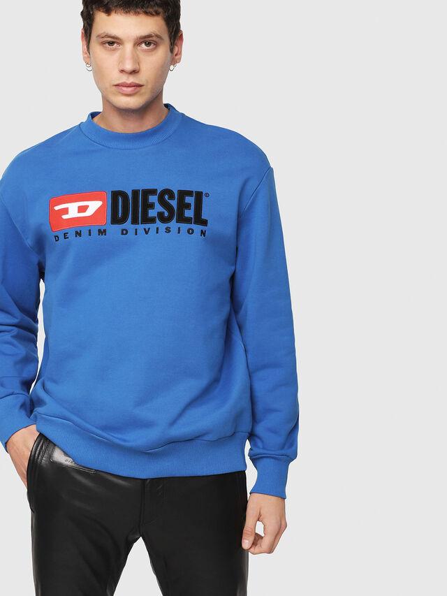 Diesel - S-CREW-DIVISION, Brilliant Blue - Sweaters - Image 1