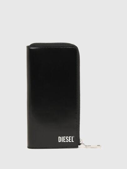 Diesel - L-24 ZIP, Black - Zip-Round Wallets - Image 1