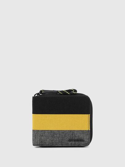 Diesel - ZIPPY HIRESH S, Black/Yellow - Zip-Round Wallets - Image 1