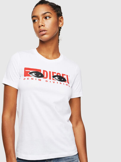 Diesel - T-SILY-YD, White - T-Shirts - Image 1
