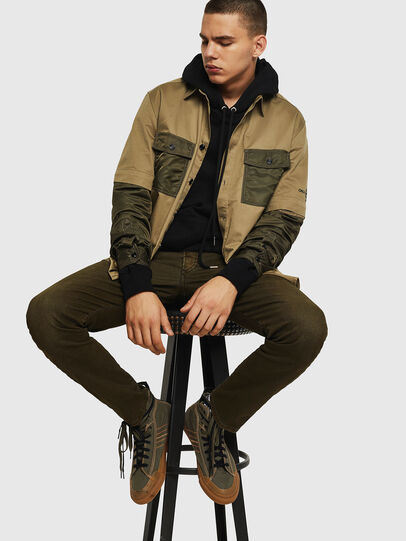 Diesel - D-Bazer 0091T, Military Green - Jeans - Image 4