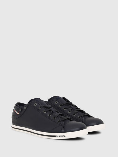 Diesel - EXPOSURE LOW I, Dark Blue - Sneakers - Image 2