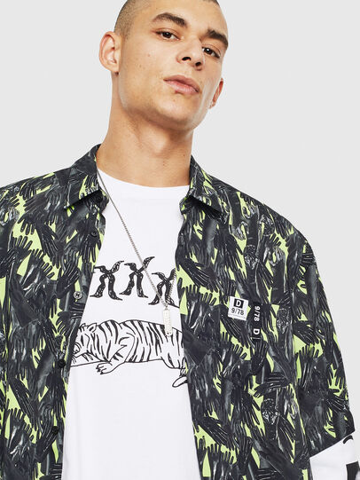 Diesel - S-ATWOOD-GLOVY, Green - Shirts - Image 3