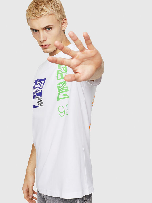 Diesel - T-JUST-Y20, White - T-Shirts - Image 4