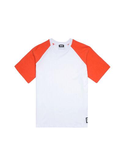 Diesel - UMLT-BASE-SP, White/Orange - Tops - Image 1