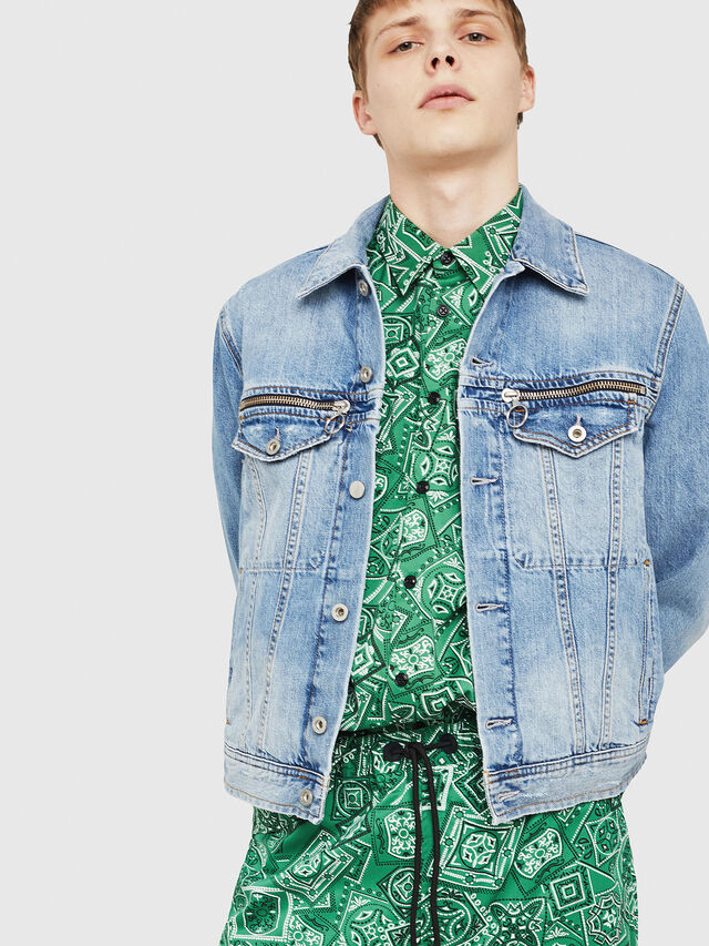 Diesel - D-ROY, Blue Jeans - Denim Jackets - Image 1