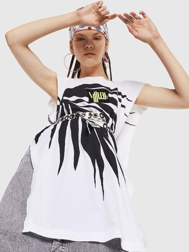 Diesel - T-DESY-B, White/Black - T-Shirts - Image 4