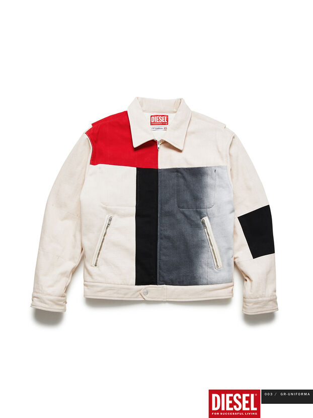 GR02-J301-P, White - Denim Jackets