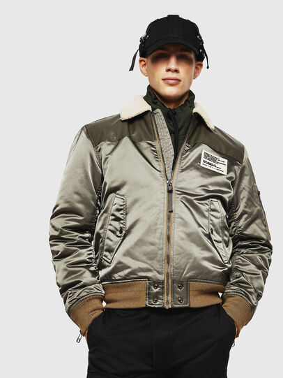 Diesel - W-FEDOVIK, Military Green - Winter Jackets - Image 1