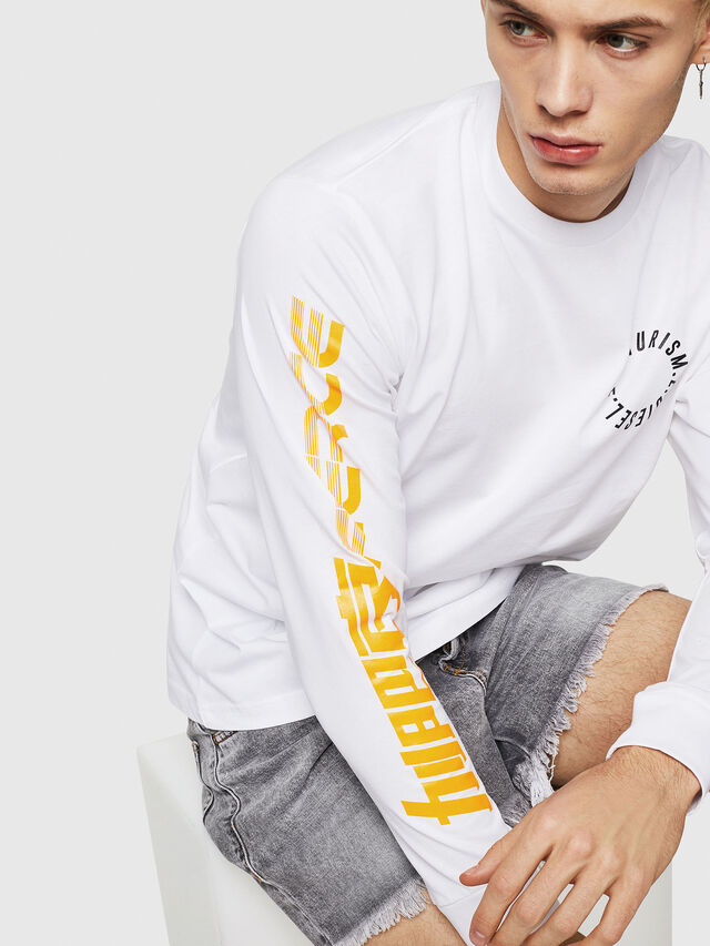 Diesel - T-JUST-LS-Y1, White - T-Shirts - Image 4