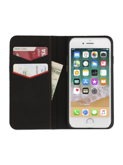Diesel - DENIM IPHONE 8 PLUS/7 PLUS FOLIO, Blue Jeans - Flip covers - Image 4