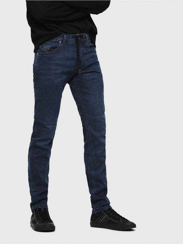 Diesel - Thommer JoggJeans 0688J, Medium blue - Jeans - Image 1