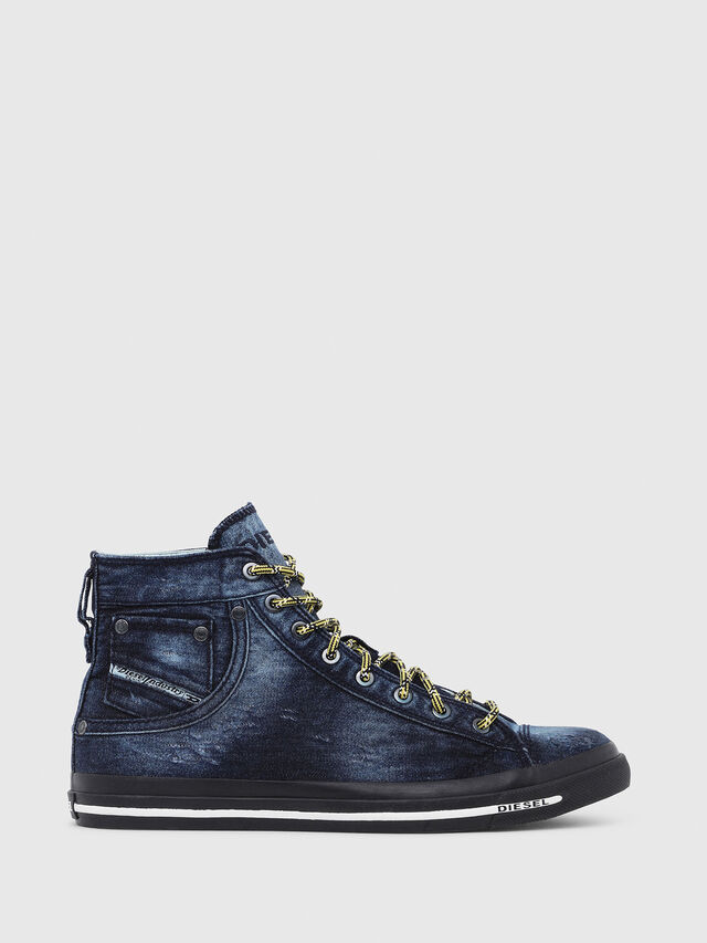 Diesel - EXPOSURE I, Blue Jeans - Sneakers - Image 1