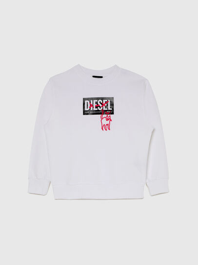 Diesel - SMUGD OVER, White - Sweaters - Image 1