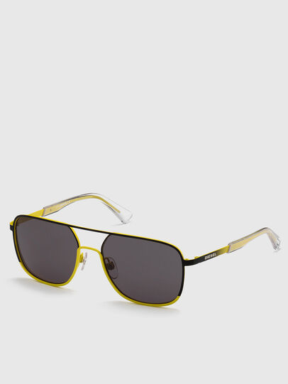 Diesel - DL0325, Black/Yellow - Sunglasses - Image 2