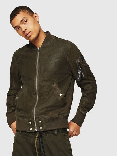 Diesel - L-NIKOLAI, Military Green - Leather jackets - Image 1
