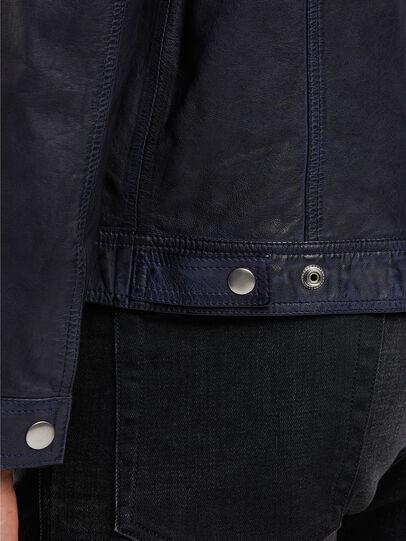 Diesel - L-NHILL-TRE, Dark Blue - Leather jackets - Image 5