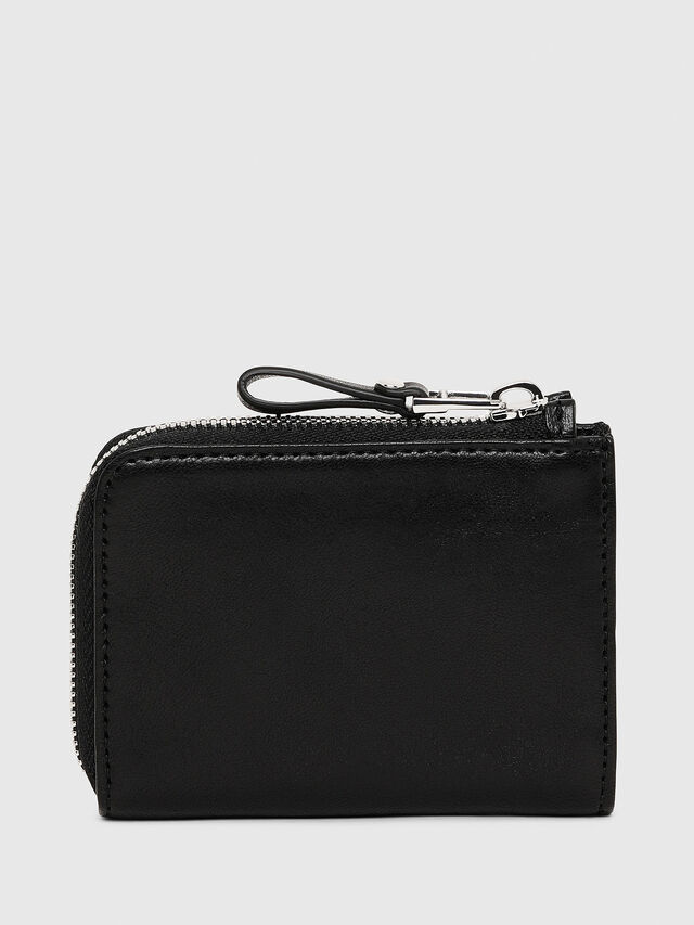 Diesel L-PASSME, Black Leather - Small Wallets - Image 2