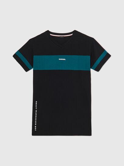 Diesel - UFTEE-CHEERLY, Black/Blue - T-Shirts - Image 1