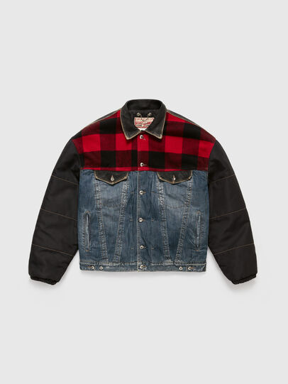 Diesel - DxD-J1, Blue/Black - Denim Jackets - Image 1