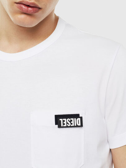 Diesel - T-WORKY-SLITS, White - T-Shirts - Image 3
