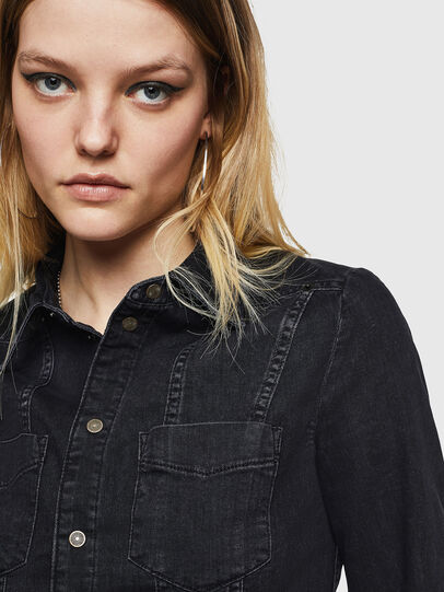 Diesel - DE-FLYP, Black/Dark grey - Denim Shirts - Image 3