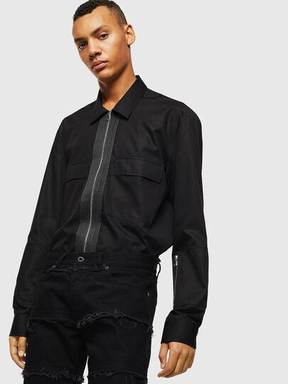 Diesel - S-PATCH-P, Black - Shirts - Image 4